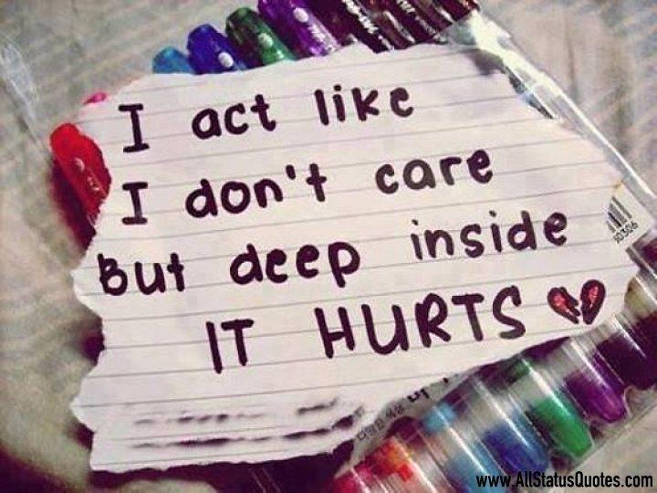 Hurt Touching Status