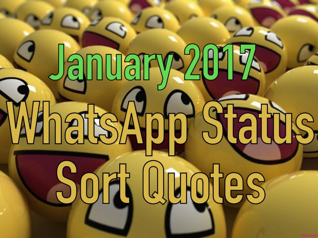 January 2017 Whatsapp Status