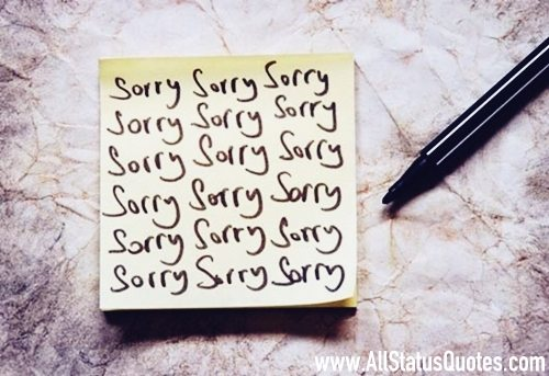 Sorry Quotes with images