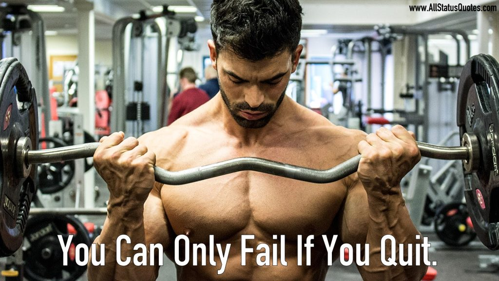 Gym Status For Whatsapp Facebook Short Gym Quotes