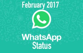 February 2017 Latest WhatsApp Status, Short Quotes