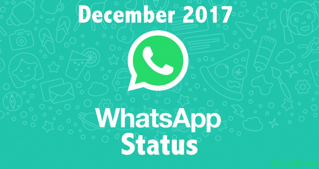 December Whatsapp Status 2017