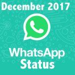 December Whatsapp Status 2017
