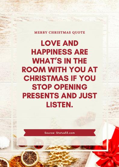 Merry Christmas Status for girl