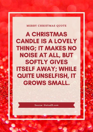 Merry Christmas Status for love