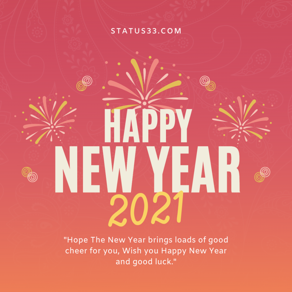 new year status image for instagram