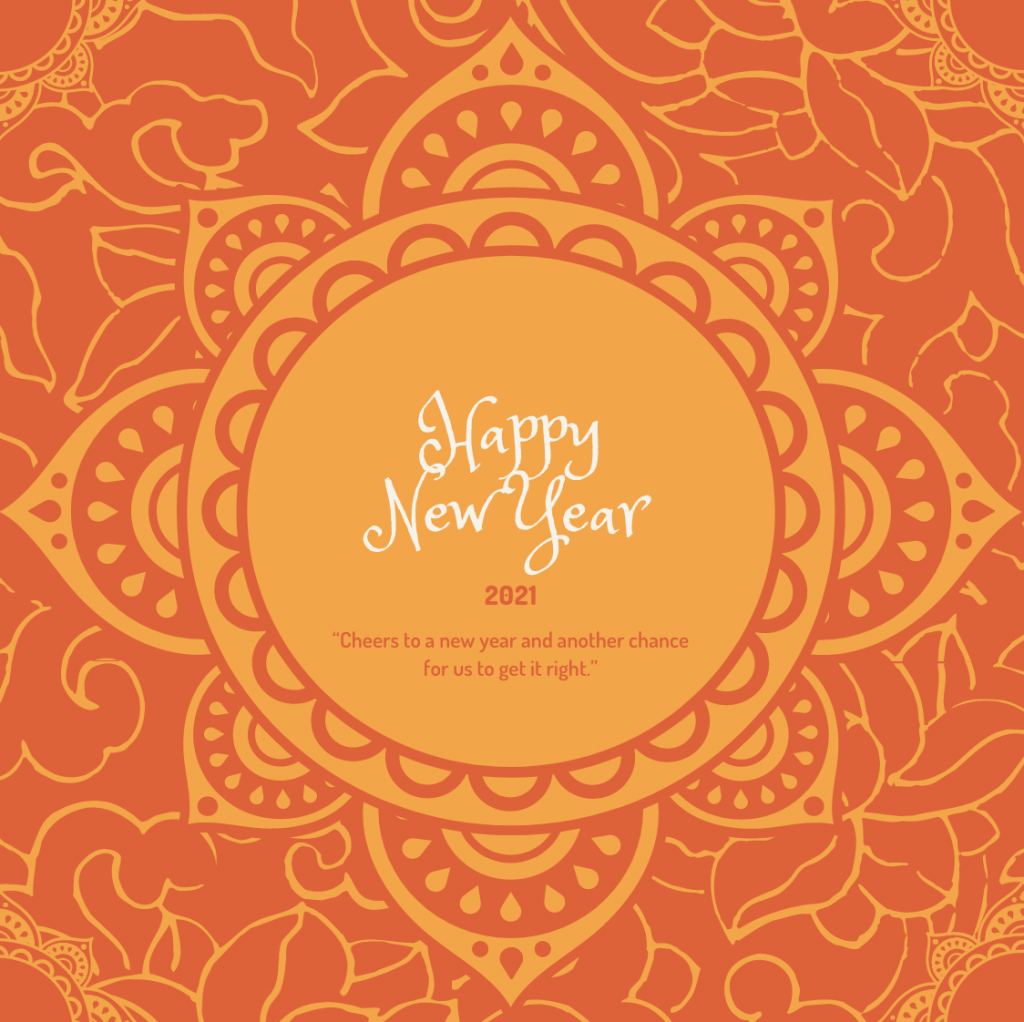 new year status image for fb
