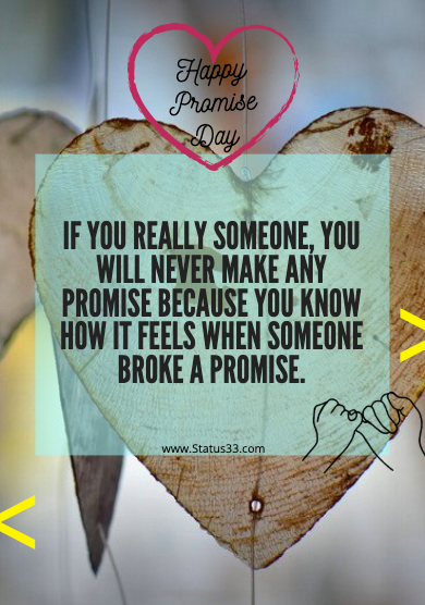 Best Happy Promise Day Wishes Status, Quotes and images