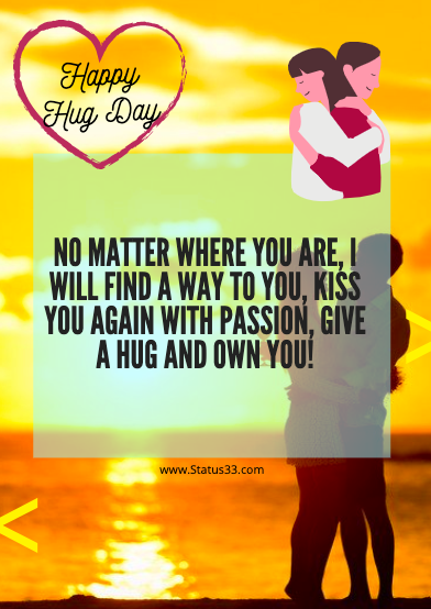 Happy Hug Day Wishes Status, Quotes and images