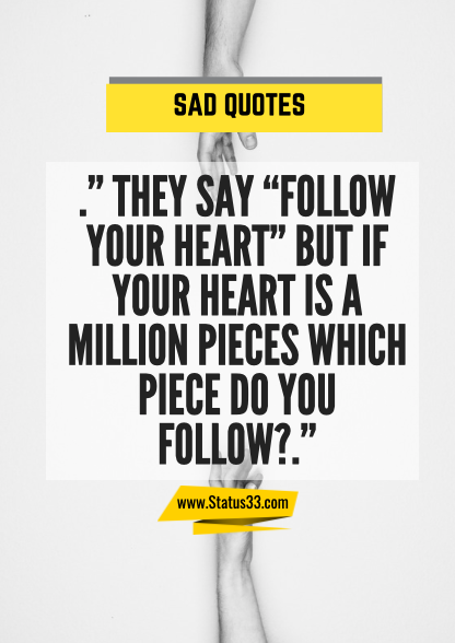 quotes about being sad