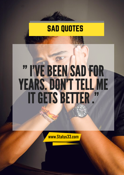 sad words about life