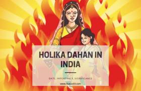 Holika Dahan in India