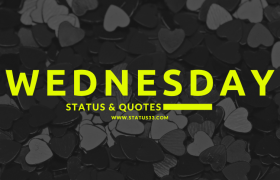 Wednesday Status for Whatsapp | Short Wednesday Quotes and Sayings