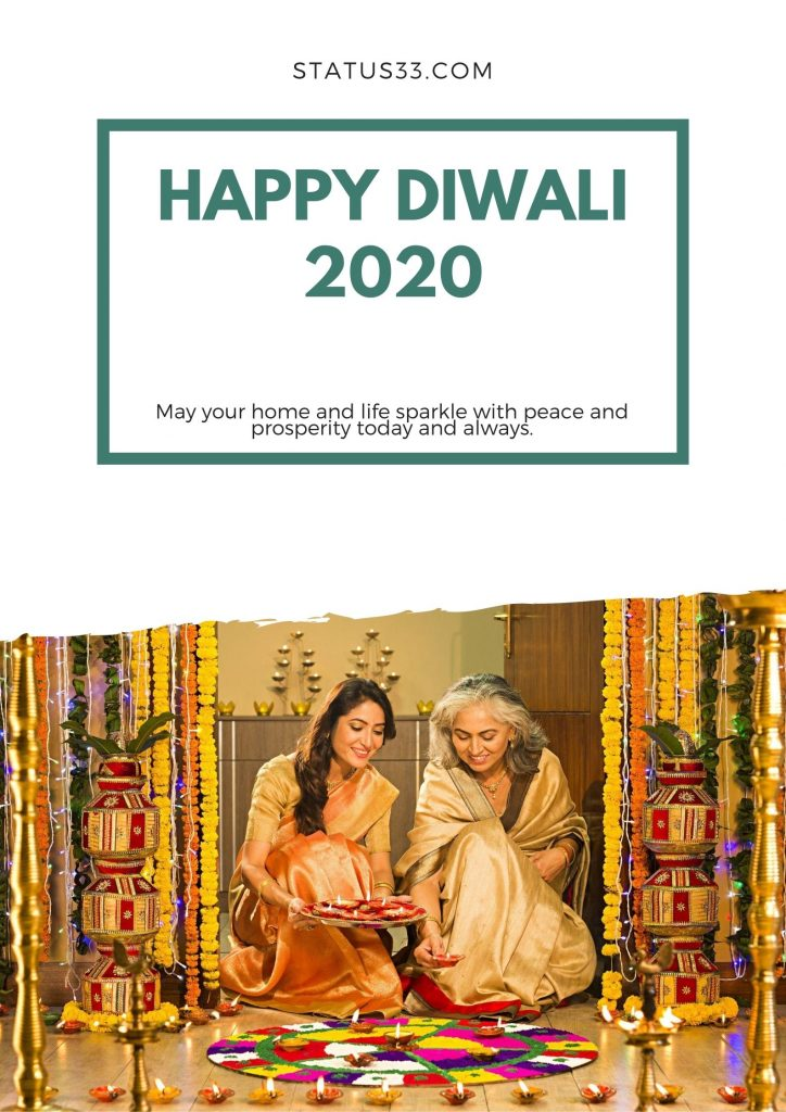 2020 happy diwali greeting card