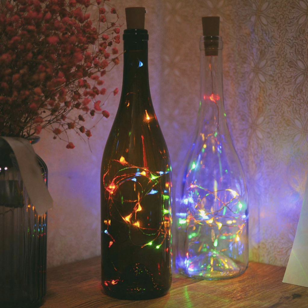diwali decoration with bottle