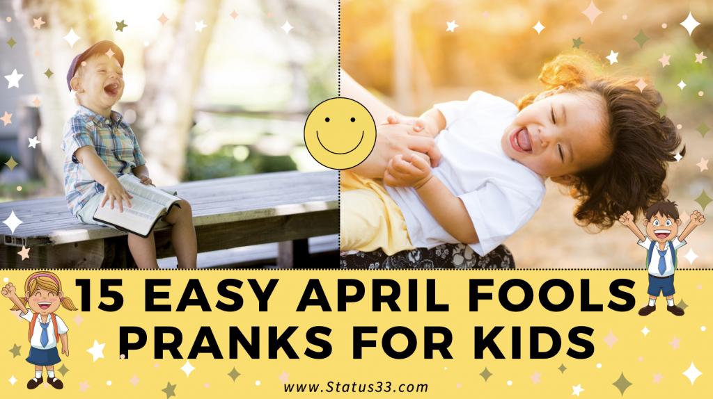 Easy April Fools Pranks for Kids